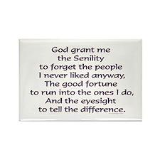 God grant me the Senility... Magnets