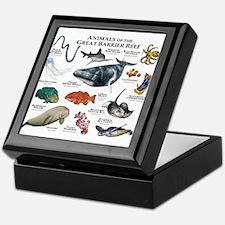 Animals of the Great Barrier Reef Keepsake Box