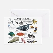 Animals of the Great Barrier Reef Greeting Card