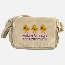 Alzheimers Walk For A Cure Messenger Bag