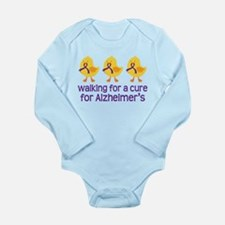 Alzheimers Walk For A Cure Long Sleeve Infant Body