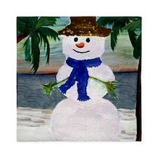 Tropical Snowman Queen Duvet