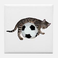Cat Soccer - Tile Coaster