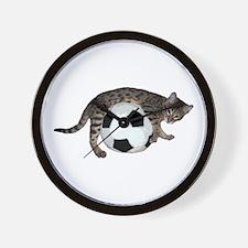 Cat Soccer - Wall Clock