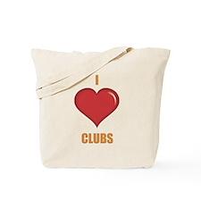 I Love Clubs Tote Bag
