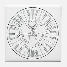SOTA Piano Logo Tile Coaster
