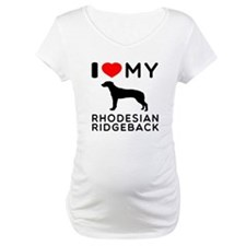I Love My Dog Rhodesian Ridgeback Shirt