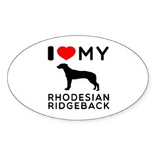 I Love My Dog Rhodesian Ridgeback Decal