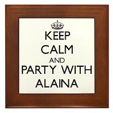 Keep Calm and Party with Alaina Framed Tile