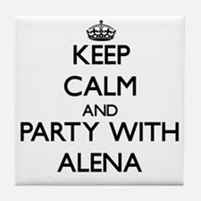 Keep Calm and Party with Alena Tile Coaster