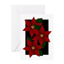 Red Poinsettia Christmas Greeting Card
