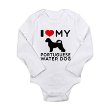 I Love My Dog Portuguese Water Dog Long Sleeve Inf