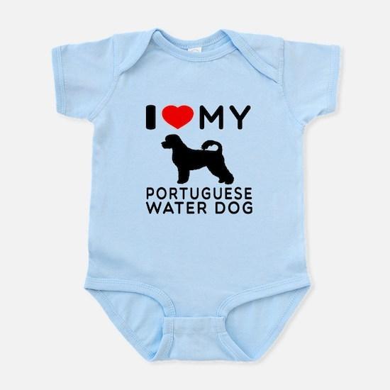 I Love My Dog Portuguese Water Dog Infant Bodysuit