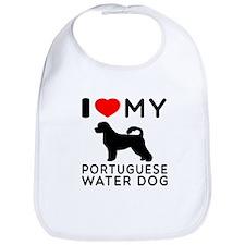 I Love My Dog Portuguese Water Dog Bib