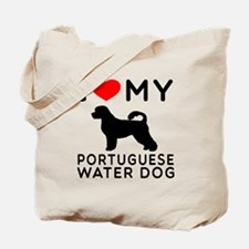 I Love My Dog Portuguese Water Dog Tote Bag