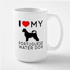 I Love My Dog Portuguese Water Dog Large Mug