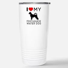 I Love My Dog Portuguese Water Dog Travel Mug