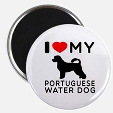 I Love My Dog Portuguese Water Dog Magnet
