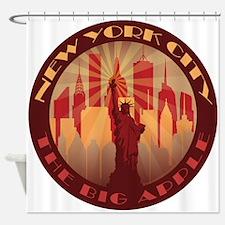 NYC Big Apple hot Shower Curtain