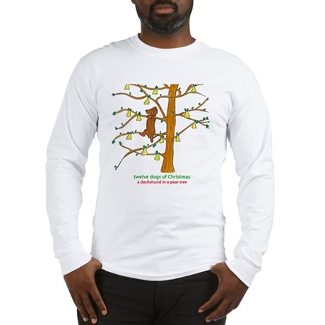 A Dachshund in a Pear Tree Long Sleeve T-Shirt
