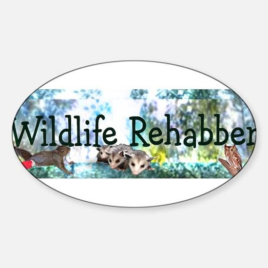 Wild Rehabber Bumper Decal