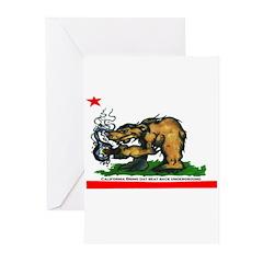 CALIFORNIA BRING DAT BEAT BAC Greeting Cards (Pack