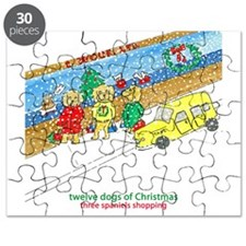 Three Spaniels Shopping Puzzle