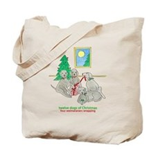 Four Weimaraners Wrapping Tote Bag