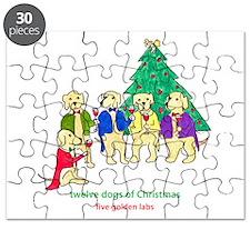 Five Golden Labs Puzzle