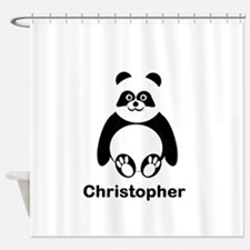 Personalized Panda Bear Shower Curtain