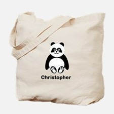 Personalized Panda Bear Tote Bag