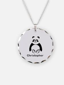 Personalized Panda Bear Necklace