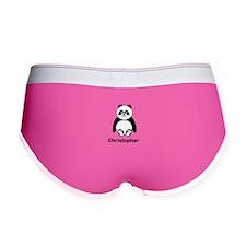 Personalized Panda Bear Women's Boy Brief
