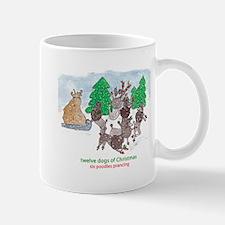 Six Poodles Prancing Mug