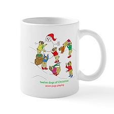 Seven Pugs Playing Mug