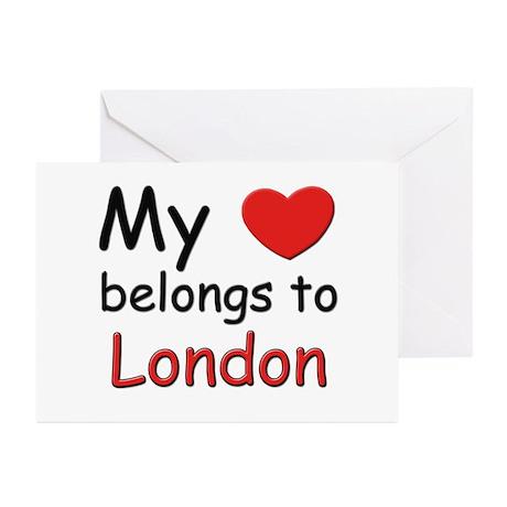 My heart belongs to london Greeting Cards (Package