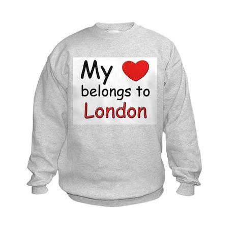 My heart belongs to london Kids Sweatshirt