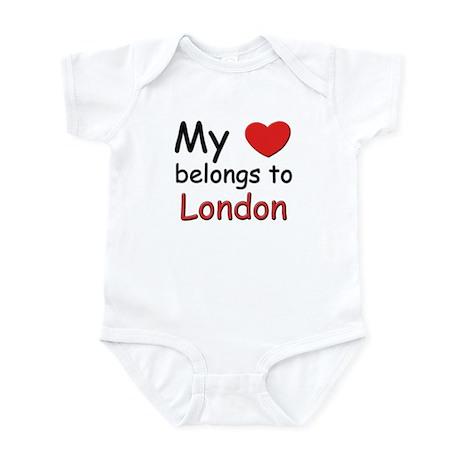 My heart belongs to london Infant Bodysuit