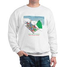 Eleven Schnauzers Sledding Sweatshirt