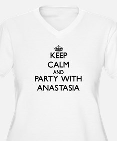 Keep Calm and Party with Anastasia Plus Size T-Shi