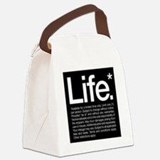 Life Disclaimer Canvas Lunch Bag
