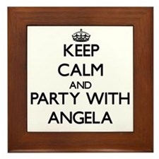 Keep Calm and Party with Angela Framed Tile