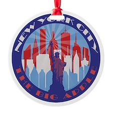 NYC Big Apple patriot Ornament