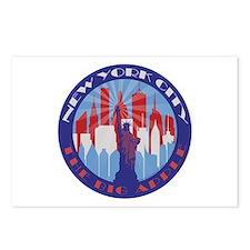 NYC Big Apple patriot Postcards (Package of 8)