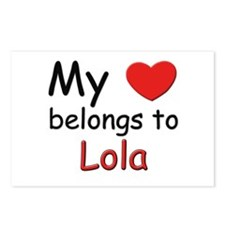 My heart belongs to lola Postcards (Package of 8)