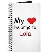 My heart belongs to lola Journal