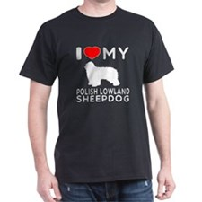 I Love My Dog Polish Lowland Sheep Dog T-Shirt