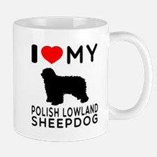 I Love My Dog Polish Lowland Sheep Dog Mug