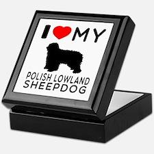 I Love My Dog Polish Lowland Sheep Dog Keepsake Bo