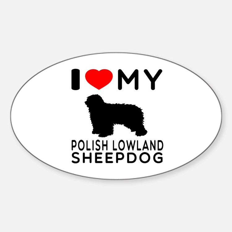 I Love My Dog Polish Lowland Sheep Dog Decal